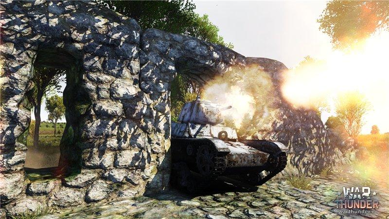 Танк War Thunder засада